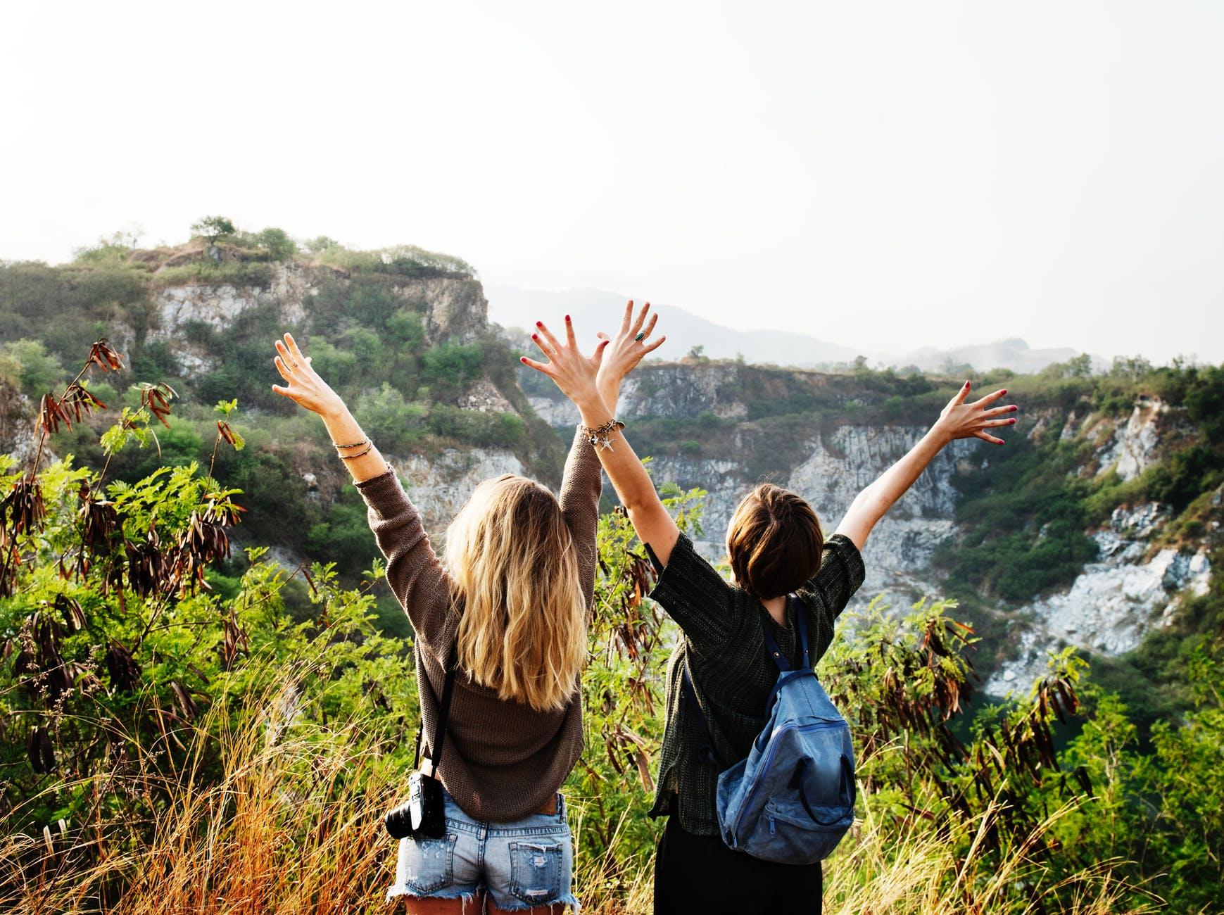 casual cliffs enjoyment environment