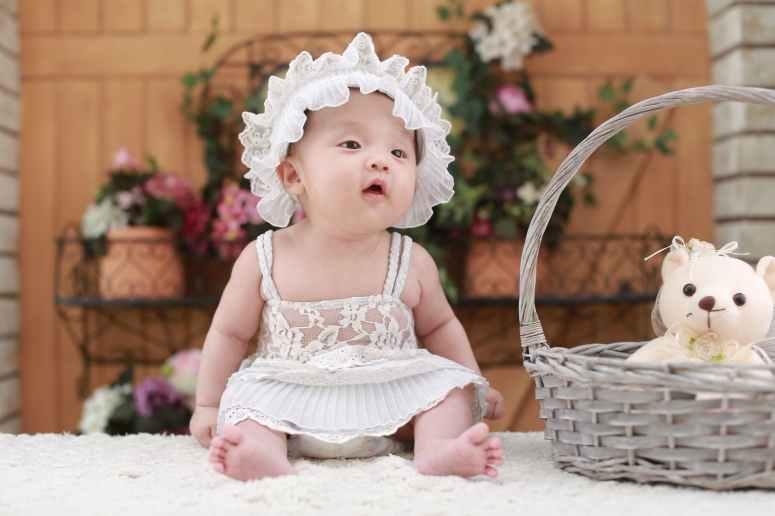 adorable baby basket child