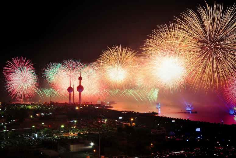 city night explosion firework